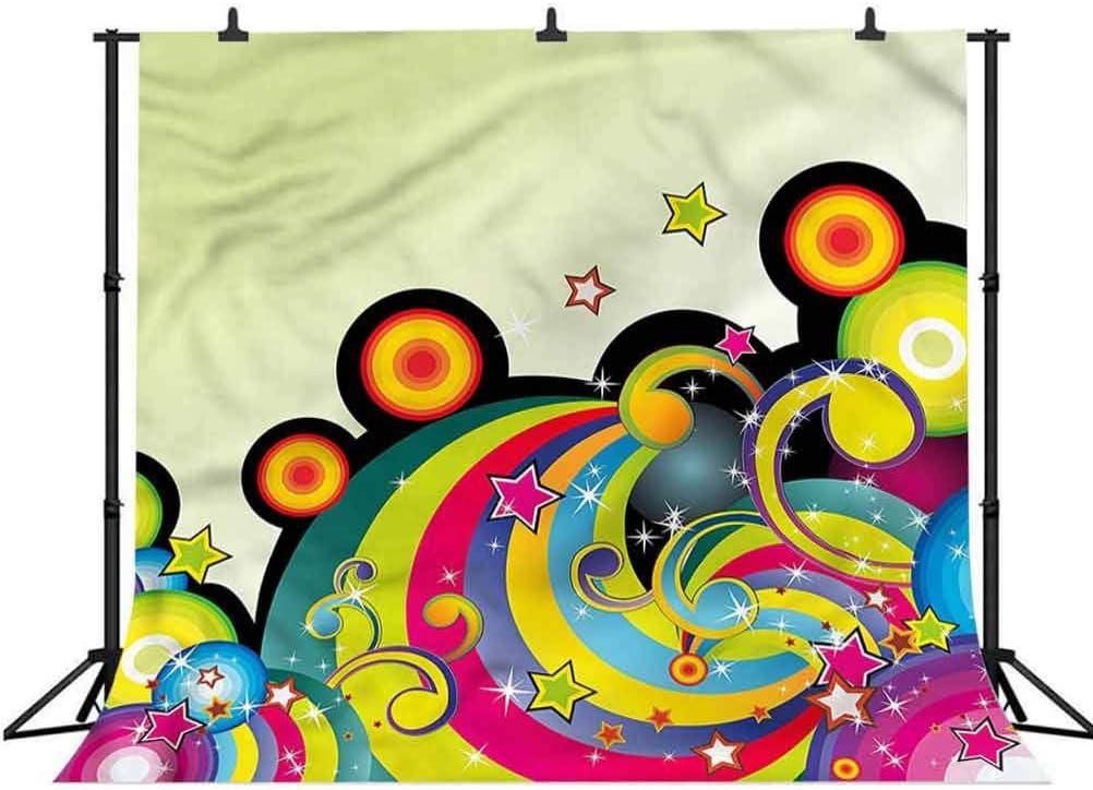 6x6FT Vinyl Photo Backdrops,Quatrefoil,Quatrefoil Artsy Star Photoshoot Props Photo Background Studio Prop
