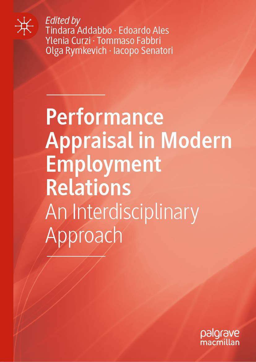 Performance Appraisal in Modern Employment Relations: An Interdisciplinary Approach