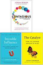 Jonah Berger Collection 3 Books Set (Contagious, Invisible Influence, Catalyst)
