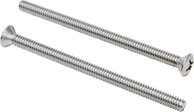 1/4''-20 X 4'' Stainless Phillips Oval Head Machine Screw, (25 pc), 18-8 (304) Stainless Steel, by Bolt Dropper