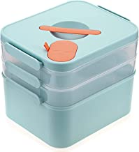 BTSKY 3 Layers Stackable & Carry Box, Plastic Multipurpose Portable Storage Container Box Handled Organizer Storage Organi...