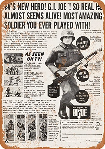 Wall-Color 9 x 12 Metal Sign - 1964 G.I Joe - Vintage Look