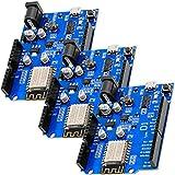 AZDelivery 3 x Modulo D1 R1 WiFi ESP8266MOD 12-F Placa de desarrollo de Internet de las cosas compatible con Arduino con E-Book incluido!