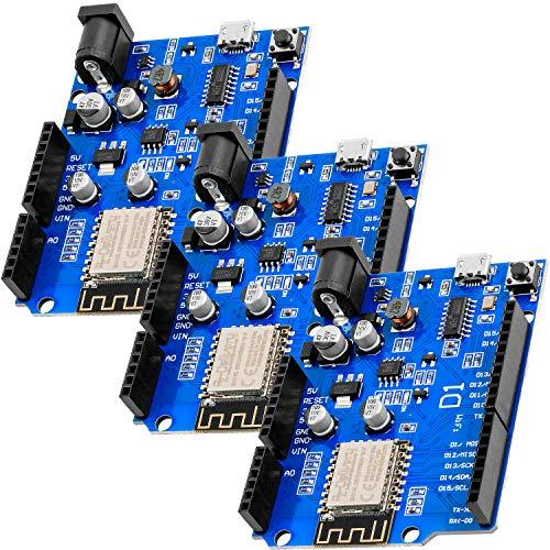 AZDelivery 3 x D1 Board NodeMCU ESP8266MOD-12F WiFi Wlan Modul kompatibel mit Arduino inklusive E-Book!