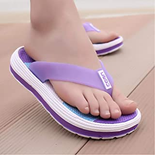 Summer Slippers Ladies Casual Massage Durable Slippers Beach Sandals Women Wedges Striped Ladies Slippers