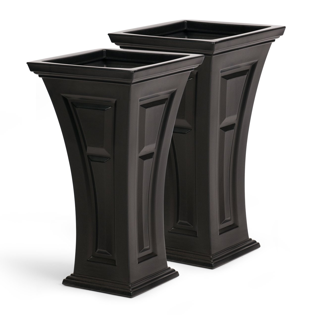 FCMP Outdoor HP-Bk Heritage (2 Pack) Planter Black  sc 1 th 225 & Tall Outdoor Planters: Amazon.com