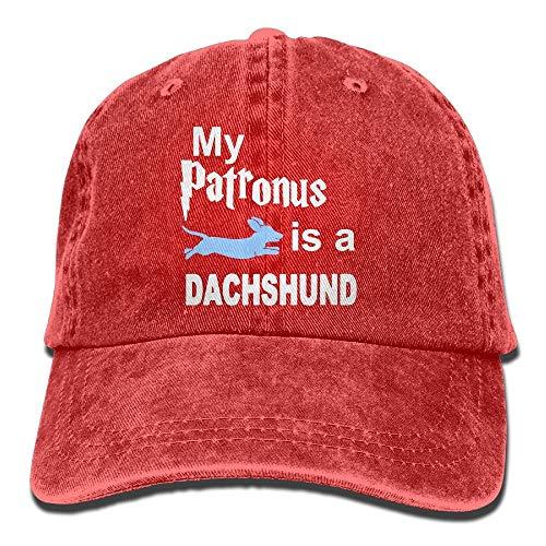 Hoswee Baseballmütze Hüte Kappe My Patronus is A Dachshund Plain Adjustable Cowboy Cap Denim Hat for Women and Men