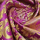 Textile Station Indischer Banarasi-Brokatstoff mit floralem