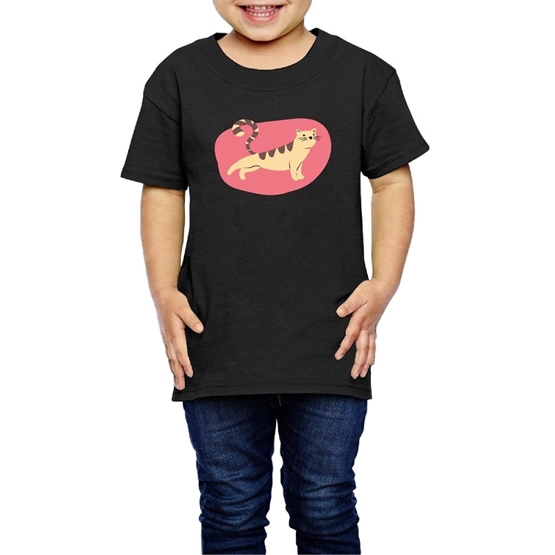 ストレッチ?キャット 子供服 キッズ 半袖 Tシャツ 綿100% 5-6 Toddler