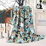 Ultra Soft Flannel Fleece Blankets Princess Theme Warm Comfortable Throw Blanket for Bed Sofa