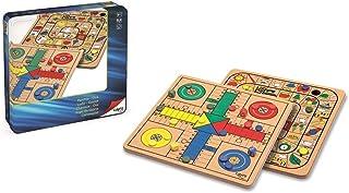 Cayro - Parchis y Oca Madera Metal Box - Juego de Tradicional - Juego de Mesa - Desarrollo de Habilidades cognitivas - Jue...