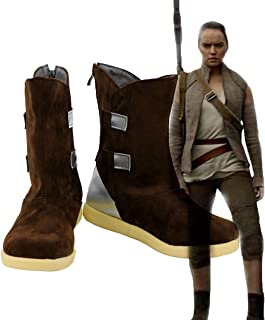 Star Wars: The Last Jedi Rey Shoes Cosplay Costume Boots