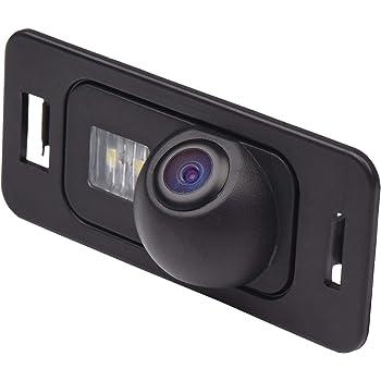 Misayaee Rear View Back Up Reverse Parking Camera in License Plate Lighting Night Version (NTSC) for Mini Cooper R50 R52 R53 E82/E88 E90/E91/E92 E39/E60/E61/E62 X5 E53 X1 E84 X3 X6