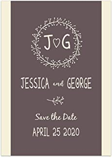 Simple Brown Save the Date Card Wedding Invitation