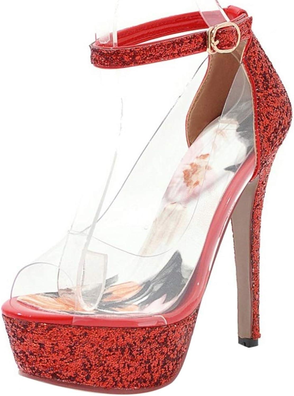 FANIMILA Women Elegant Thin Heel Summer Sandals