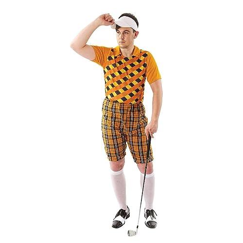 Mens Tartan Pub Golf Golfer Stag Fancy Dress Costume Hat Visor Standard 0381615cc3