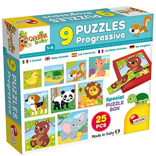 Coffret de 9 Puzzles progressifs Les Bebes Animaux