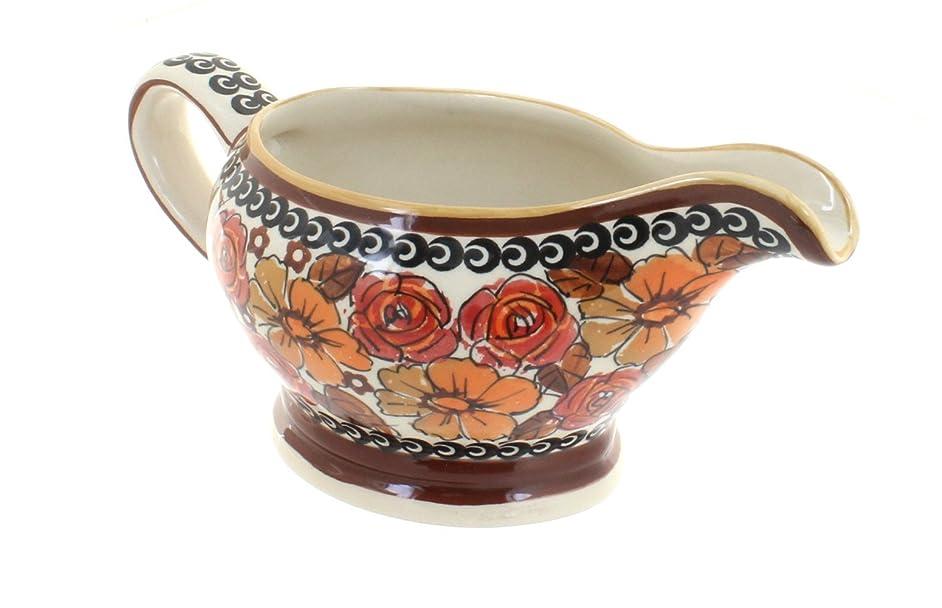 Polish Pottery Autumn Rose Gravy Boat