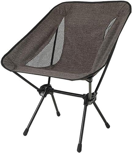 XBZDY Chaise Pliante en Plein Air, Chaise De Pêche en Aluminium Space Chair Portable Pique-Nique Loisirs Chaise Pliante, Brun Bleu en Option