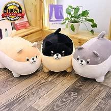 PPH3 Shine 1PC 40/50cm Cute Dog Plush Toy Stuffed Soft Animal Corgi Chai Pillow for Kids Valentine Present (50CM, Gray)