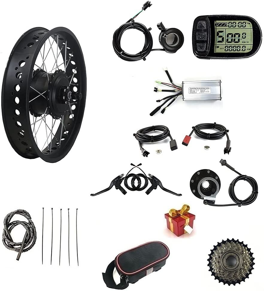 36V 500W Electric Bicycle Conversion Kit Fat San Antonio Mall Free shipping on posting reviews wit Bike Snow Tire