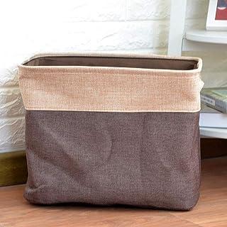 Panier à linge salle de bain Hauteur de buanderie pliable de draps de coton avec poignées, panier de rangement portable de...