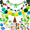 Elegant life 67ピース誕生日 バルーン 飾り付けピースィー用品パーティーの装飾セット子供のための誕生日パーティー 恐竜 ドラゴン バルーン 風船 空気入れ付き
