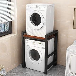 Support de machine à laver Étagères empilées au-dessus du balcon Sèche-linge à double couche, étagère de machine à laver e...