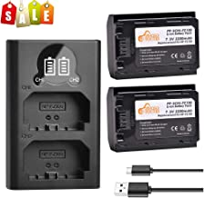 NP-FZ100 Pickle Power 2 Pcs FZ100 Batteries and Rapid Smart LED Dual USB Charger Replacement for Sony Alpha A7 III Sony Alpha 9/A9 Sony Alpha 9R A9R 9S Sony A7R III A7R III A7R3 (2280mAh, 7.2V)