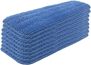 Set of 8 Microfiber Spray Mop Replacement Heads for Wet/Dry Mops Reusable Replacement Refills Fits for Bona Floor Care System - Blue