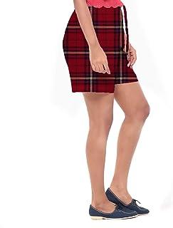 EASY 2 WEAR ® Women Soft Cotton Checks Shorts - (XS to 4XL) -Red Checks