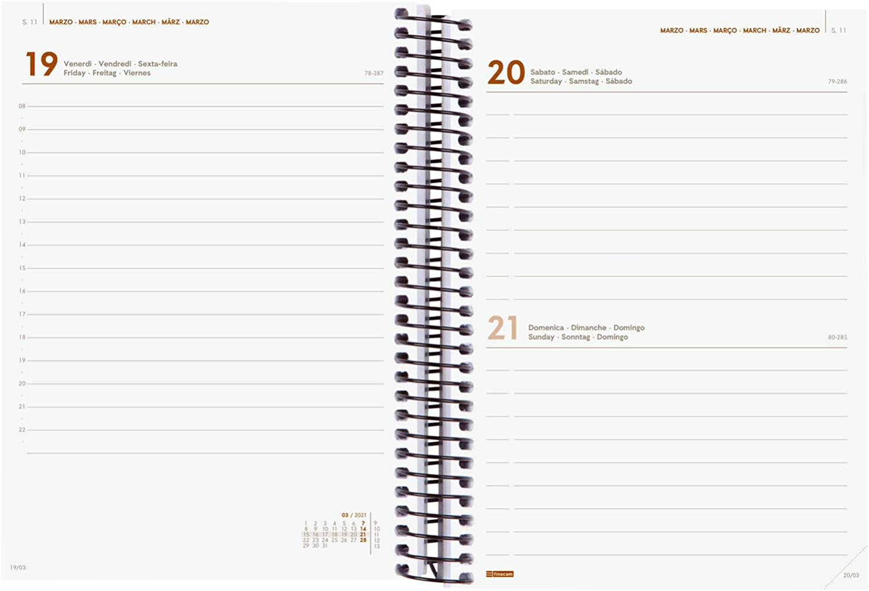Finocam-Agenda semainier 2021 avec reliure /à spirales Design Collection Lady Internationale