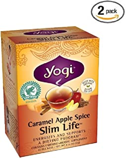 Yogi Tea - Caramel Apple Spice Slim Life (Organic Assam Tea) (2 Pack)