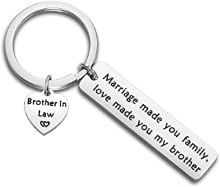 bobauna Brother in Law Gift Marriage Made Us Family Love Made You My Brother Keychain