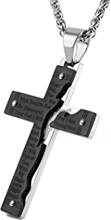 broken cross necklace