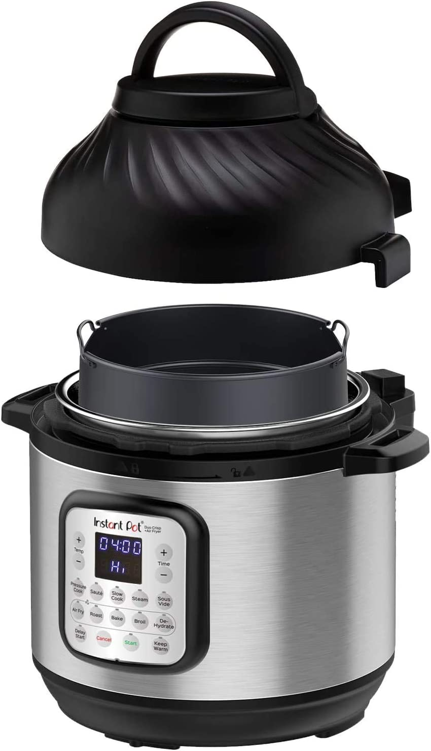 Instant Pot Duo Crisp 11-in-1 Multi-Use Pressure Cooker and Air Fryer, 6 Quart