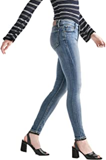 Lucky Brand Women's Ava Skinny Mid Rise Jeans Hubbard Blue Wash