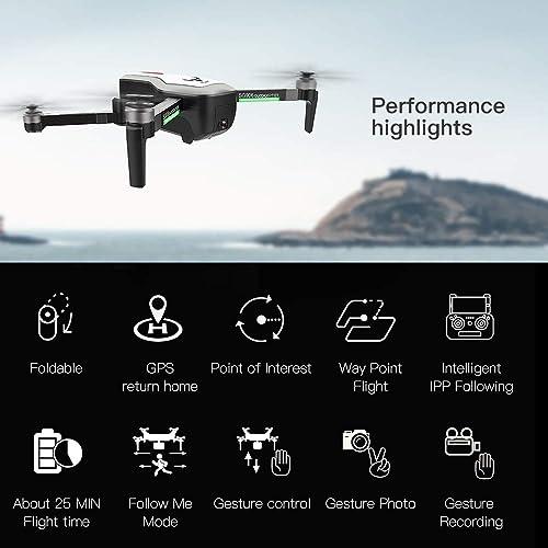 precios mas baratos Leslaur SG906 GPS Brushless 4K Drone con cámara 5G WiFi WiFi WiFi FPV Plegado óptico Posicionamiento de Flujo Altitud Mantenga RC Quadcopter con 3 baterías  cómodamente