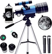 ToyerBee Telescope for Kids&Beginners, 70mm Aperture 300mm Astronomical Refractor Telescope(15X-150X), Portable Travel Tel...