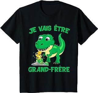 Enfant Je vais être grand frère dinosaure cadeau dino à la baie T-Shirt