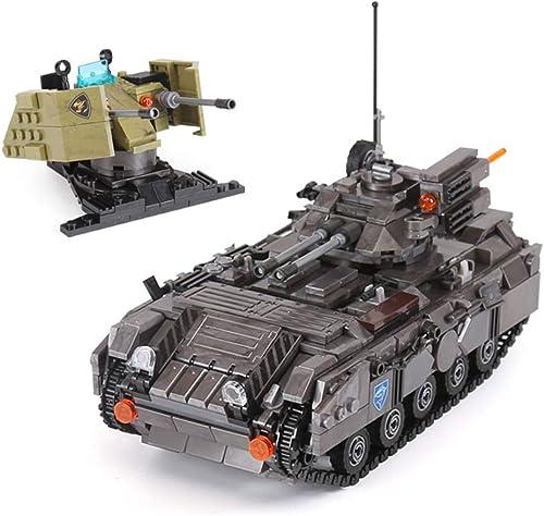 forma única Yyz Militar Militar Militar Serie Militar Modelo de Tanque de orugas vehículo blindaño Niños Montaje de Juguete de ortografía Bloques de construcción de Regaño de cumpleaños  selección larga
