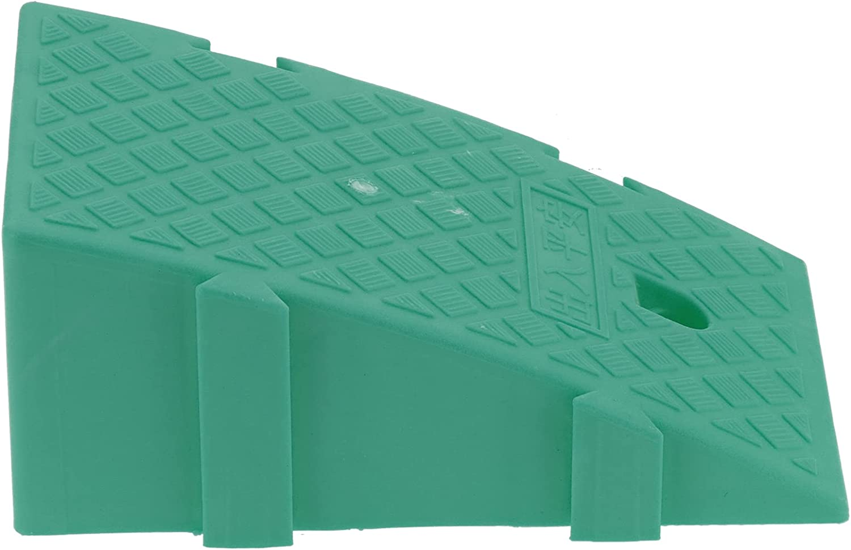 Rampas de umbral para puertas, rampas de carga resistentes convenientes con material plástico PP de grado industrial para scooter para entrada(verde)