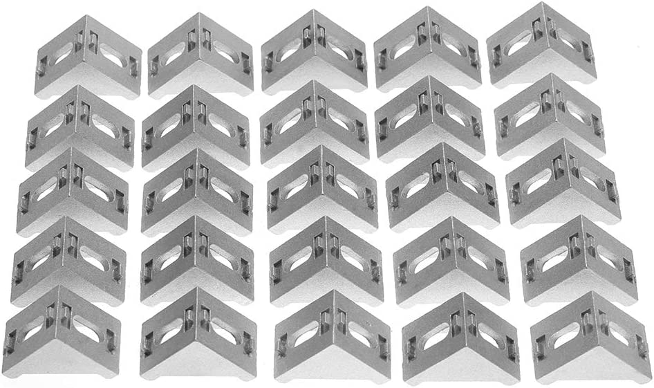 Ginorgee Corner Bracket - 25pcs Discount is also underway 4040 Aluminum Shape Bra L Los Angeles Mall