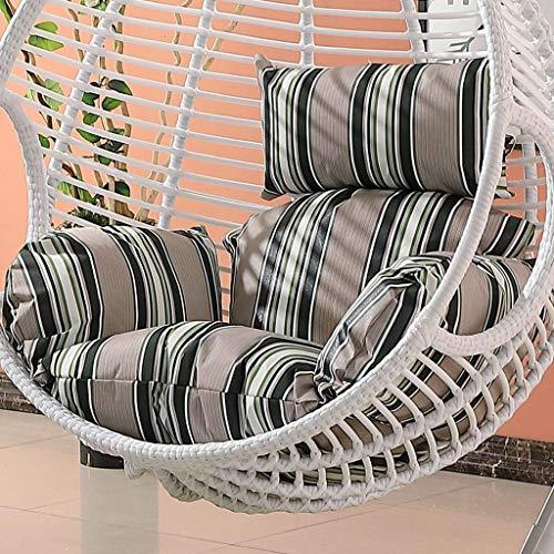 NBVCX Servicios para el hogar Mimbre Rattan Colgante Huevo Cojines para sillas Antideslizantes Cojí