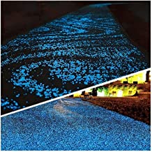 1000 stks DIY Luminous Decor Hotel Pond Aquarium Glast Gloed in Dark Garden Pebbles Stones Rotsen voor □ Yard en loopbrug ...