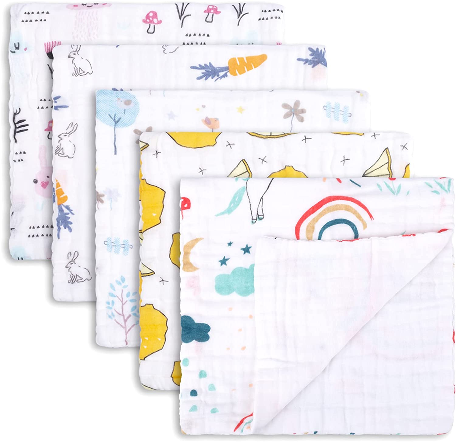 Max 87% Max 44% OFF OFF Muslin Burp Cloths 5 Pack Baby Sets Burping Unisex 20 for Cloth