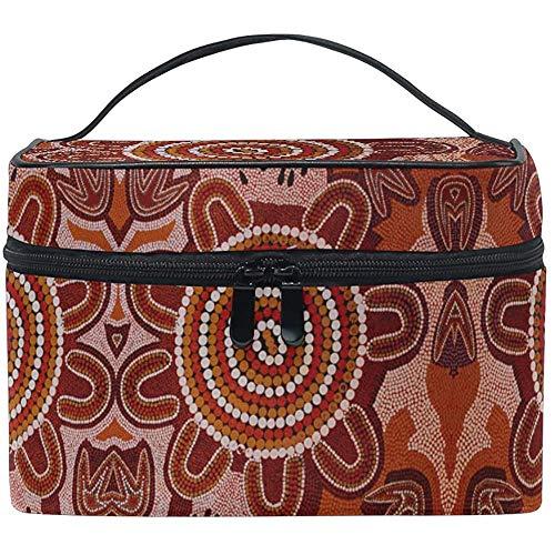 Bolsa de Maquillaje Retro Australia Aborigen Tribal Patrón de Viaje Bolsas de...