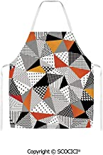 SCOCICI Contrasting Fashionable Polygonal Artwork with Panes Craft Projects Unisex Kitchen Chef Apron for Cooking Baking Crafting Gardening and BBQ