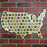 Beer Cap Trap United States of America Beer Cap Map Wall Art, Tan