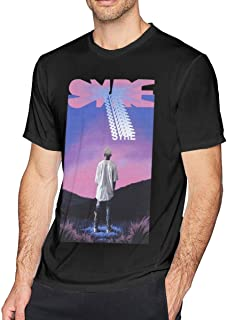 Camiseta de Manga Corta para Hombre,Mens Funny Syre Jaden Smith tee Black Men's Graphic Short Sleeve
